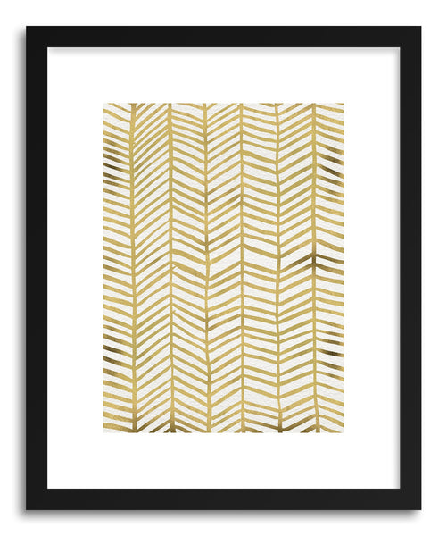 Art print Herringbone Gold by artist Cat Coquillette