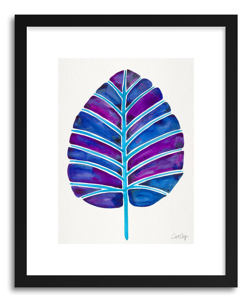 Art print Indigo Alocasia by artist Cat Coquillette