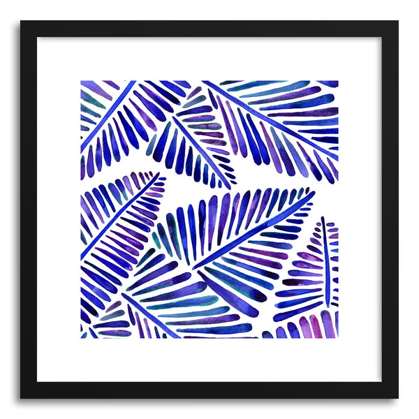 Art print Indigo Banana Leaves Pattern by artist Cat Coquillette