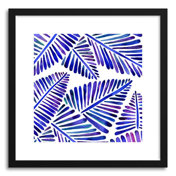 Indigo Banana Leaves Pattern
