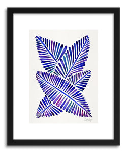 Art print Indigo Banana Leaves by artist Cat Coquillette