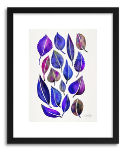 Art print Indigo Leaves by artist Cat Coquillette