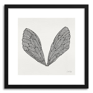 Fine art print Cicada Wings Black by artist Cat Coquillette