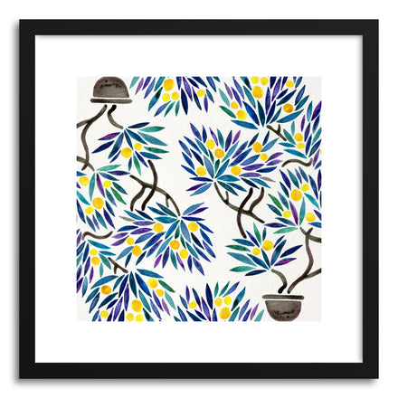 Art print Lemon Bonsai Orange Pattern by artist Cat Coquillette