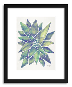 hide - Art print Marbled Aloe Vera by artist Cat Coquillette in white frame