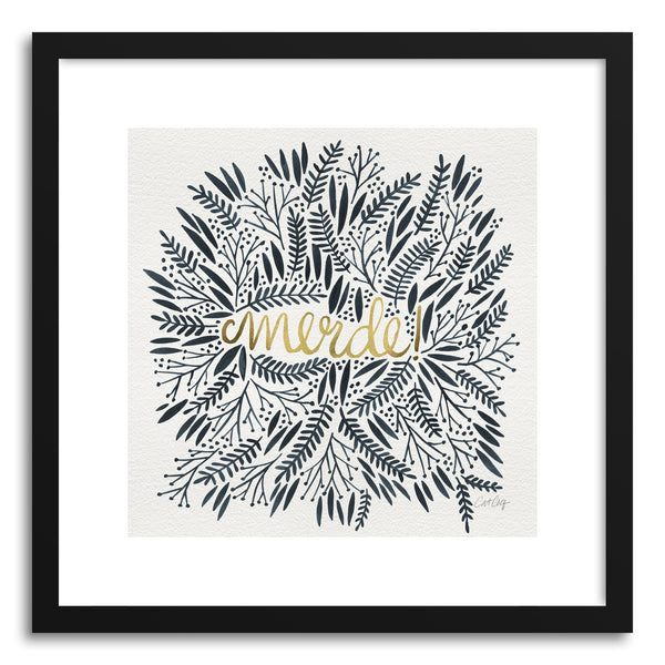 Art print Merde grey Gold white by artist Cat Coquillette