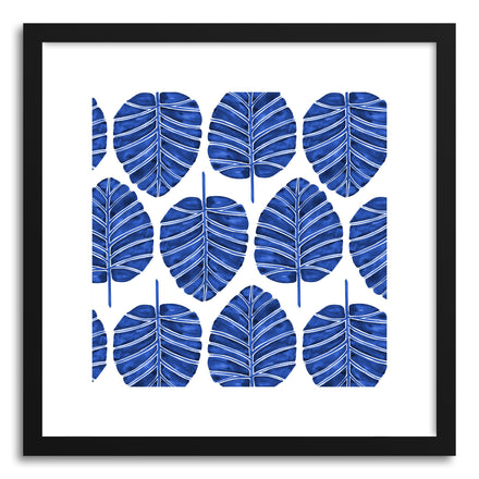 Art print Navy Alocasia Pattern by artist Cat Coquillette