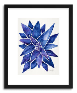 Art print Navy AloeVera by artist Cat Coquillette