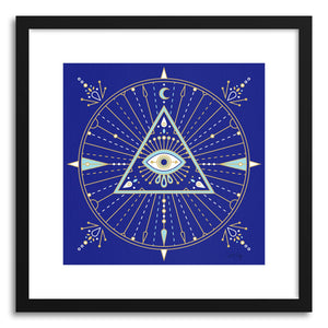 Art print Navy Evil Eye Mandala by artist Cat Coquillette