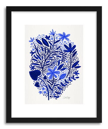 Art print Navy Garden by artist Cat Coquillette