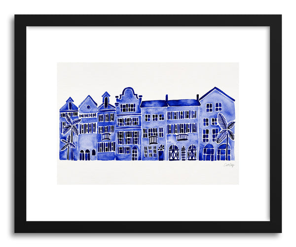 Art print Navy Rainbow Row by artist Cat Coquillette