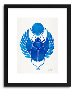 Art print Navy Scarab by artist Cat Coquillette