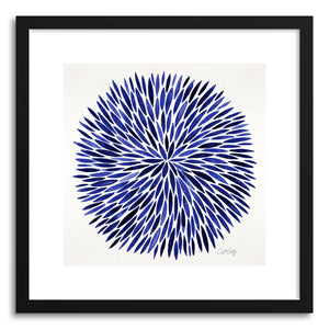 Art print Navy Watercolor Burst by artist Cat Coquillette