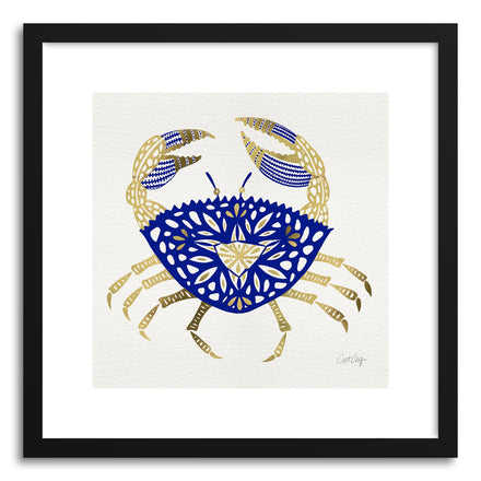 Art print Navy Gold Crab by artist Cat Coquillette