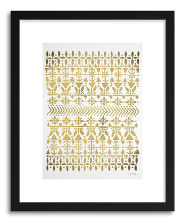 Art print Norwegian Gold on White by artist Cat Coquillette