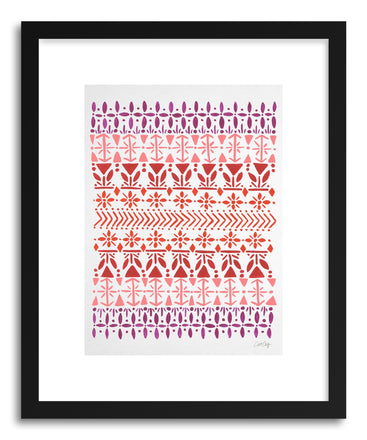 Art print Norwegian Red on White by artist Cat Coquillette