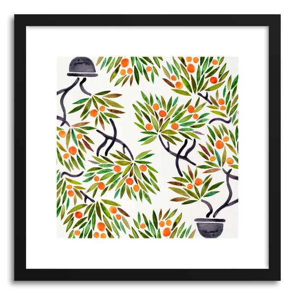 Art print Orange Bonsai Orange Pattern by artist Cat Coquillette