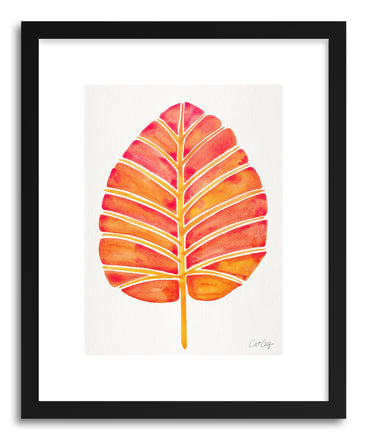 Art print Peach Alocasia by artist Cat Coquillette