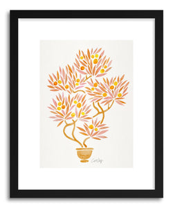 Art print Peach Bonsai Orange by artist Cat Coquillette