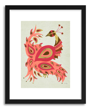 Art print Peacock Pink  by artist Cat Coquillette