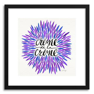 Art print Periwinkle Creme DeLa Creme by artist Cat Coquillette