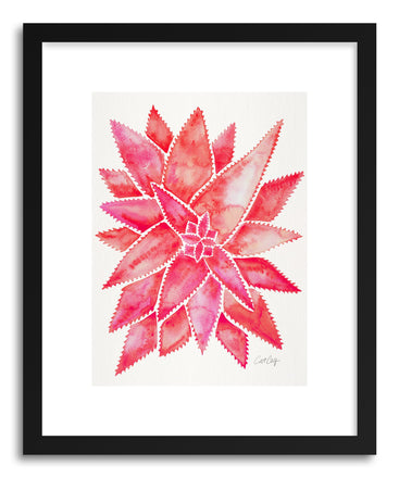 Art print Pink Aloe Vera by artist Cat Coquillette