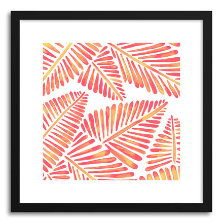 Art print Pink BananaLeaves Pattern by artist Cat Coquillette