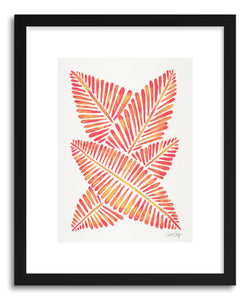 Art print Pink Banana Leaves by artist Cat Coquillette