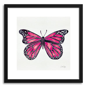 hide - Art print Pink Butterfly by artist Cat Coquillette on fine art paper