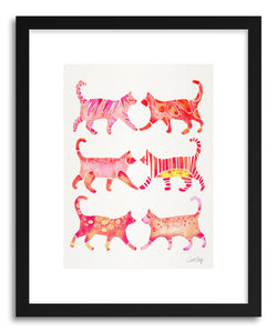 Art print Pink Cat Collection by artist Cat Coquillette