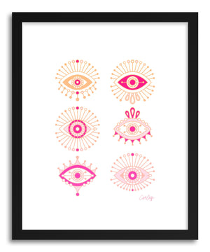 Art print Pink Evil Eyes by artist Cat Coquillette