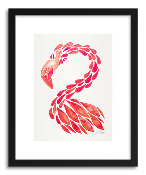 Art print Pink Flamingo by artist Cat Coquillette