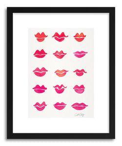 Art print Pink Kiss Collection by artist Cat Coquillette