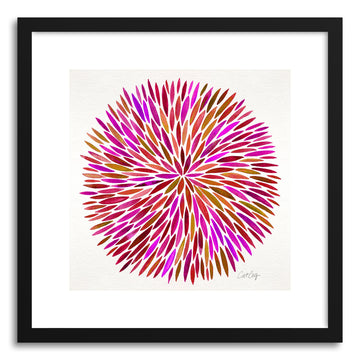 Art print Pink Watercolor Burst by artist Cat Coquillette