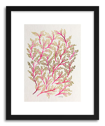 Art print Pink Gold Branches by artist Cat Coquillette