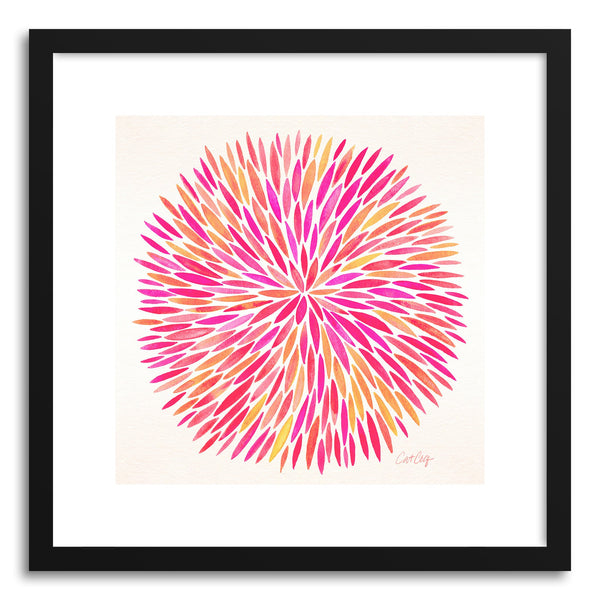 Art print Pink Ombre Watercolor Burst by artist Cat Coquillette