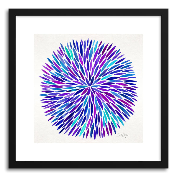 Art print Purple Watercolor Burst by artist Cat Coquillette