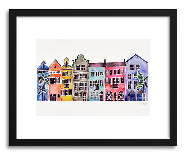 Art print Rainbow Rainbow Row by artist Cat Coquillette
