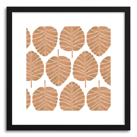 Art print Rose Gold Alocasia Pattern by artist Cat Coquillette