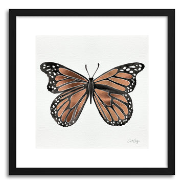 Art print Rose Gold Butterfly by artist Cat Coquillette