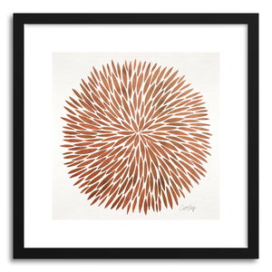 Art print Rose Gold Watercolor Burst by artist Cat Coquillette