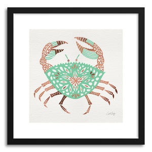Art print Rose Gold Mint Crab by artist Cat Coquillette