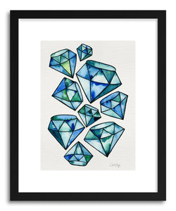 hide - Art print Sapphire Tattoos by artist Cat Coquillette in white frame