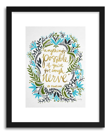 Fine art print J K Rowling Green On White by artist Cat Coquillette