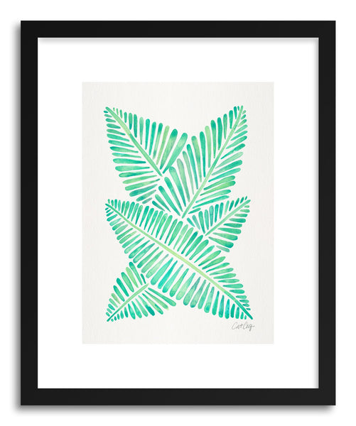 Art print Sea Foam Banana Leaves by artist Cat Coquillette