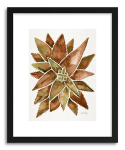 Art print Sepia Aloe Vera by artist Cat Coquillette