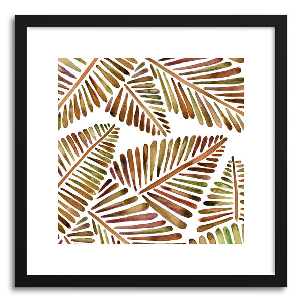 Art print Sepia Banana Leaves Pattern by artist Cat Coquillette