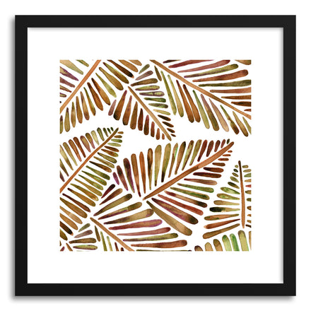 Sepia Banana Leaves Pattern