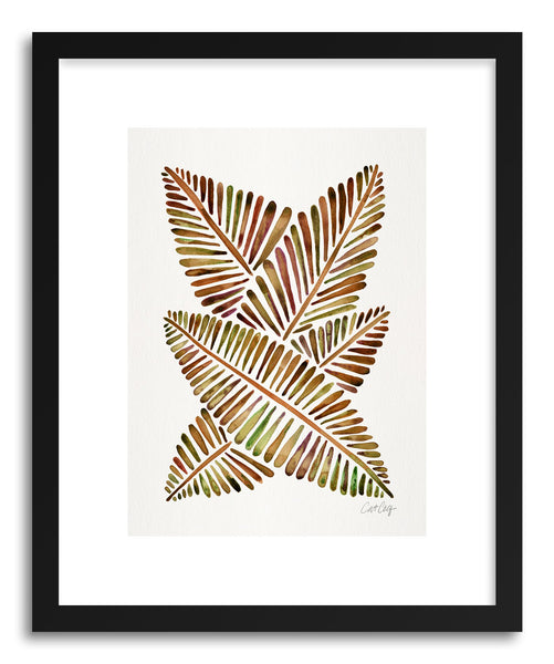 Art print Sepia Banana Leaves by artist Cat Coquillette