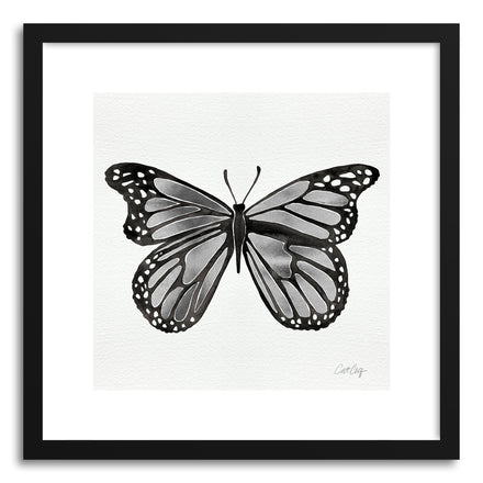 Art print Silver Butterfly by artist Cat Coquillette